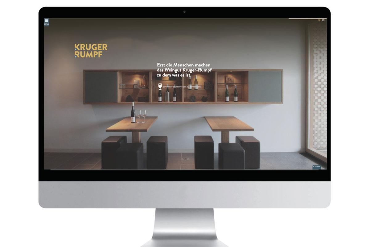 Internetauftritt Weingut Kruger-Rumpf